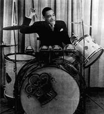 Chick Webb on the drums