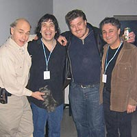 johnny  Ferreira with fellow Canadians trailer park Boys photo
