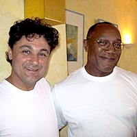 Johnny Ferreita with drummer Billy Cobham photo